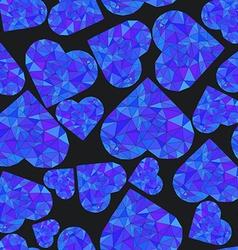 Polygonal Heart Wireframe mesh polygonal element vector