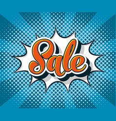 pop art comic sale web banner vector image