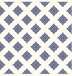 Portuguese tile azulejo pattern seamless vector