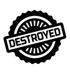 Print destroyed stamp on white vector