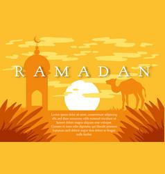 ramadan kareem greeting vector image