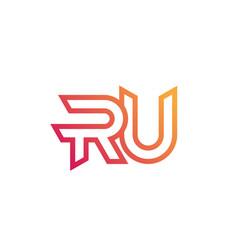 Ru letters logo monogram design vector
