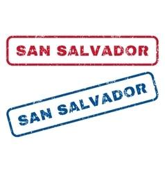San Salvador Rubber Stamps vector