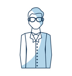Scientific man avatar icon vector