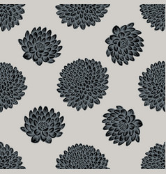seamless pattern with hand drawn stylized dahlia vector image
