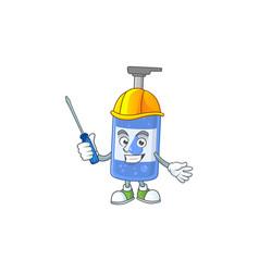 Smart automotive handsanitizer presented in mascot vector