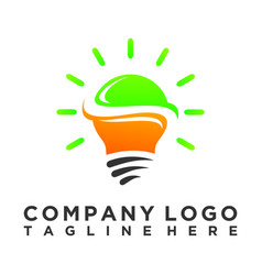 smart light bulb logo vector image