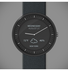 Smartwatch mockup - weather vector image