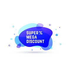 speech bubble banner poster abstract vector image