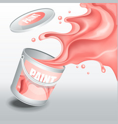 splash rose paint realistic 3d image vector image