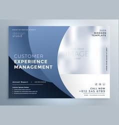 Stylish blue business flyer design vector