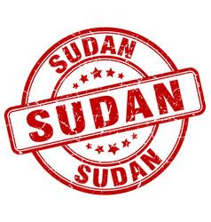 Sudan stamp vector