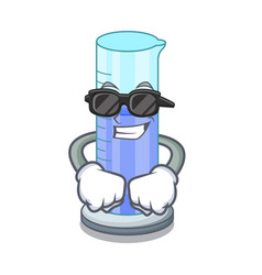 super cool graduated cylinder icon in outline vector image