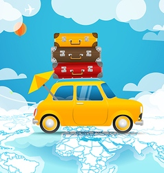 Take Vacation Car travelling concept Flat design vector