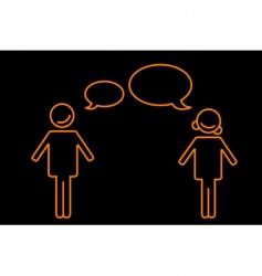 Talking boy and girl vector