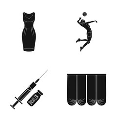 textiles sports medicine and other web icon in vector image vector image