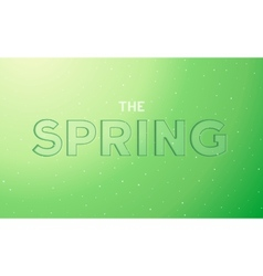 The spring embossed lettering vector