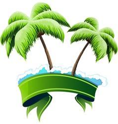 Tropical resort concept vector