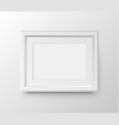 white frame for photos vector image
