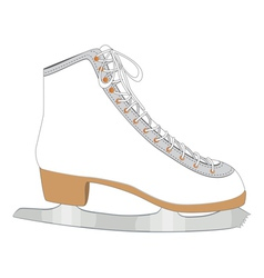 White ice skate vector image