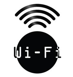 WiFi symbol vector image