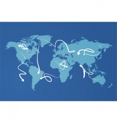 world map economies vector image