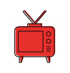 Big old television vector