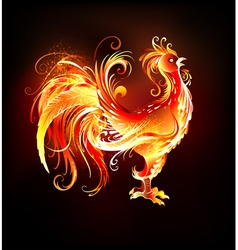 Fire Rooster vector image vector image