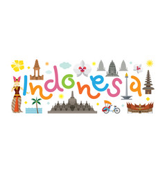 indonesia travel attraction vector image
