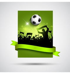 Silhouette of a crowd on a football soccer vector image