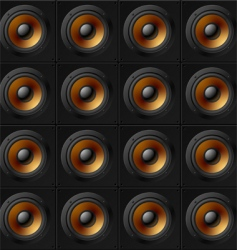 wall of speakers vector image vector image