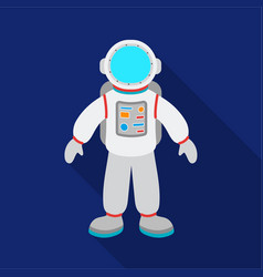 astronaut icon in flate style isolated on white vector image vector image
