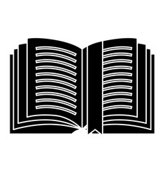 book open detailed with tag icon vector image vector image