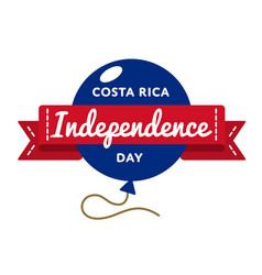 costa rica independence day greeting emblem vector image vector image
