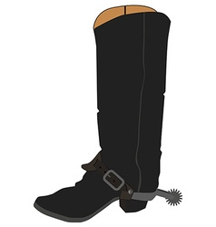 Cowboy boots with spur vector image