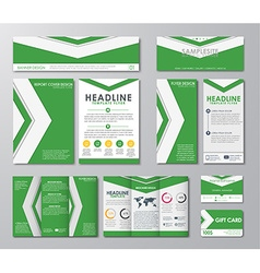 Great set for corporate identity vector