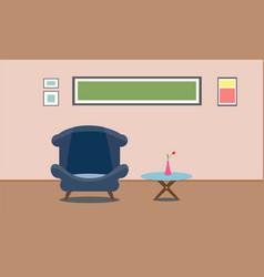 interior living room design presentation flat vector image