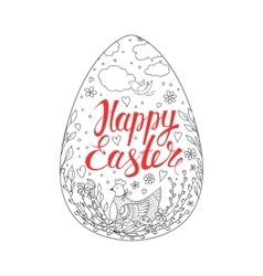 Template card with easter eggs chicken and vector