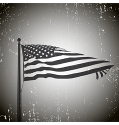 Developing the wind patriotic American flag Old vector image vector image