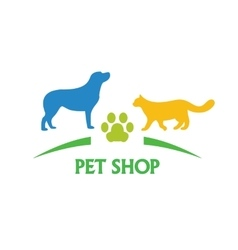 Logo design template for pet shops and veterinary vector image