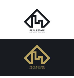 modern concept of real estate logo vector image