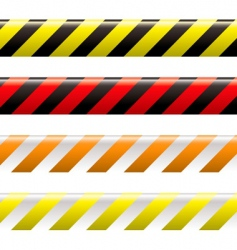 warning tape vector image