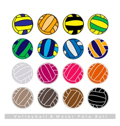 Collection of Volleyball Balls on White Background vector image vector image