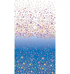 flowers degrade vector image vector image