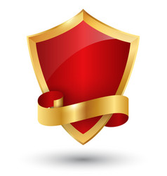 golden premium quality red best label space for vector image
