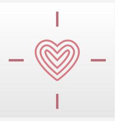 heart target logo icon vector image vector image