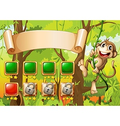Monkey game design vector image vector image