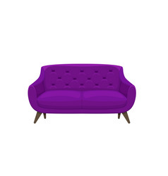 sofa and couch colorful cartoon vector image vector image