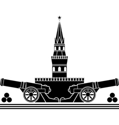 stencil of russian kremlin vector image