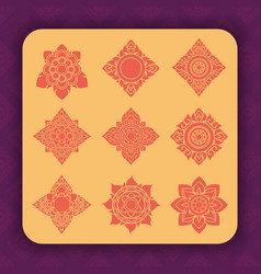 thai art design vector image vector image